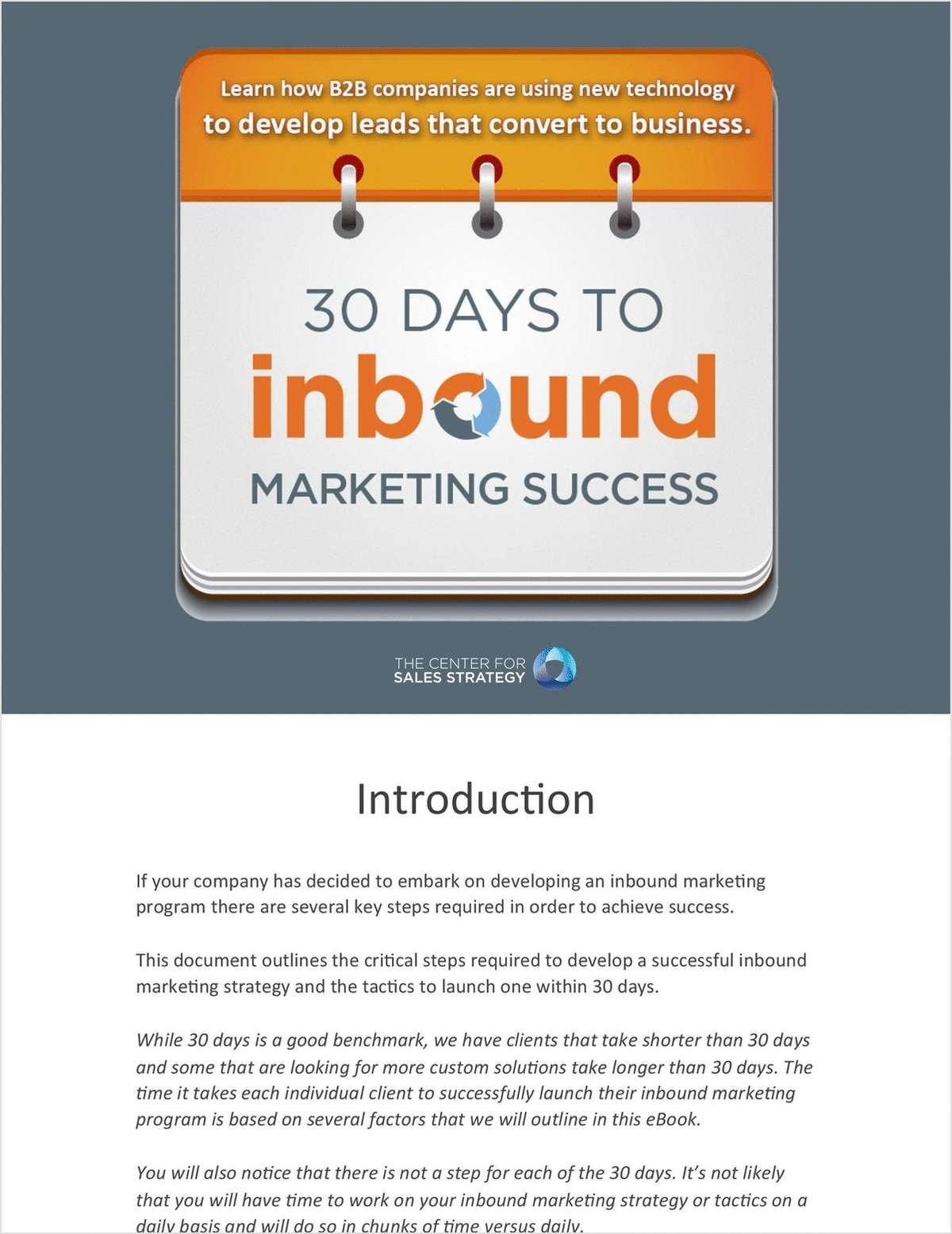 30 Days to Inbound Marketing Success