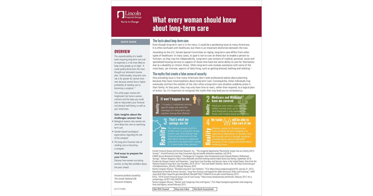 Client Guide Help Women Clients Understand Long Term Care