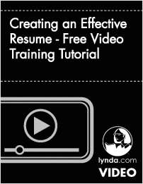 Creating an Effective Resume -  Free Video Training Tutorial
