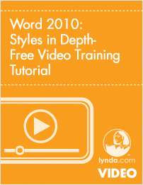 Word 2010: Styles in Depth- Free Video Training Tutorial