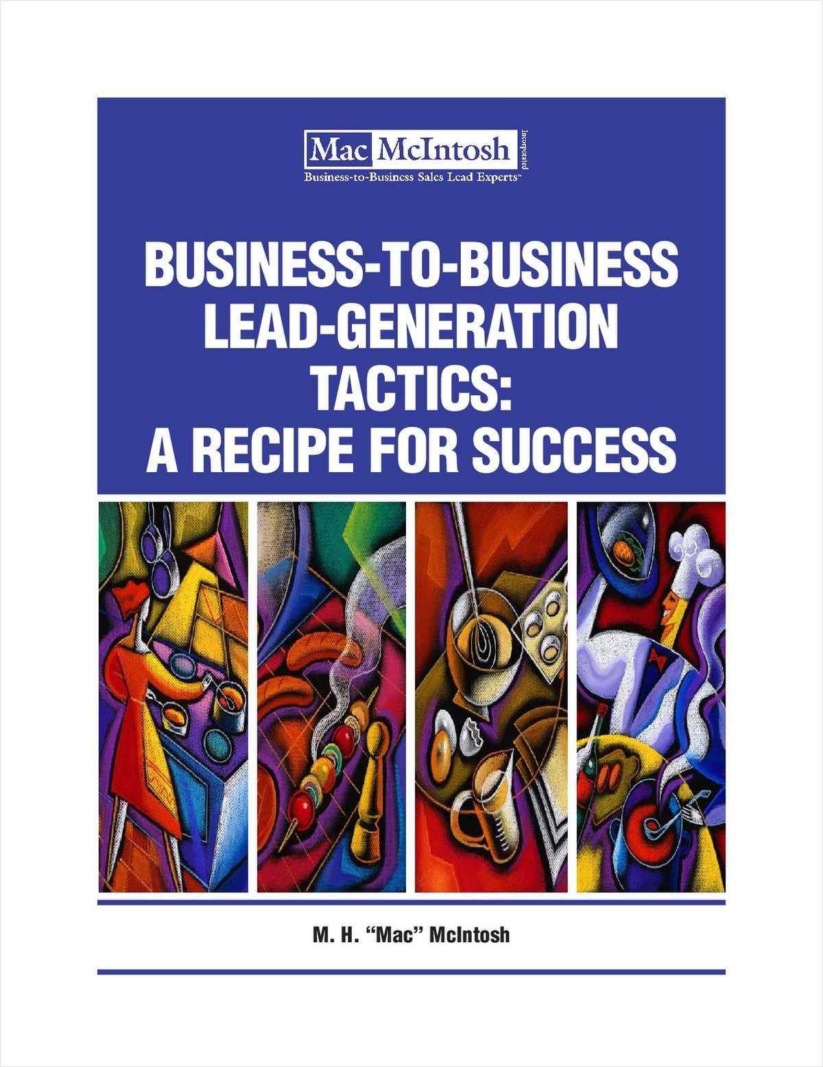 Lead Generation Tactics: A Recipe for Success