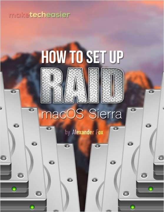 How to Set Up RAID in macOS Sierra