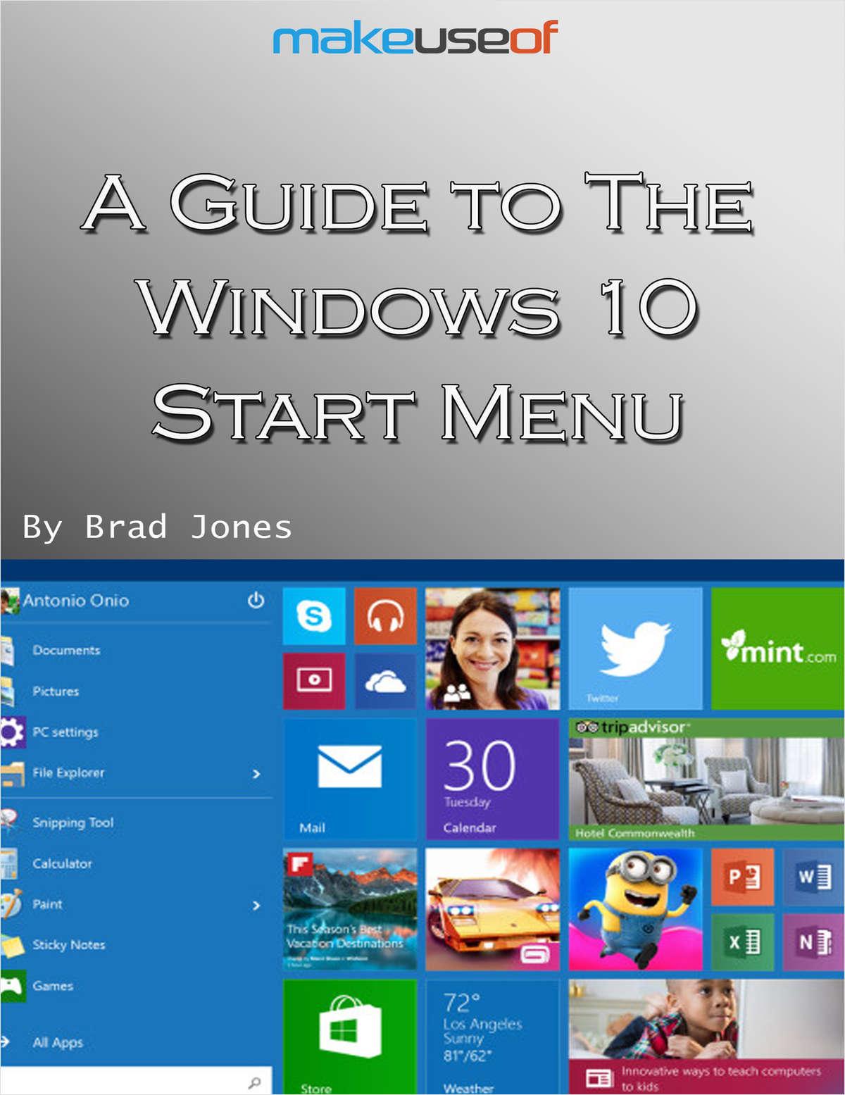 A Guide to the Windows 10 Start Menu