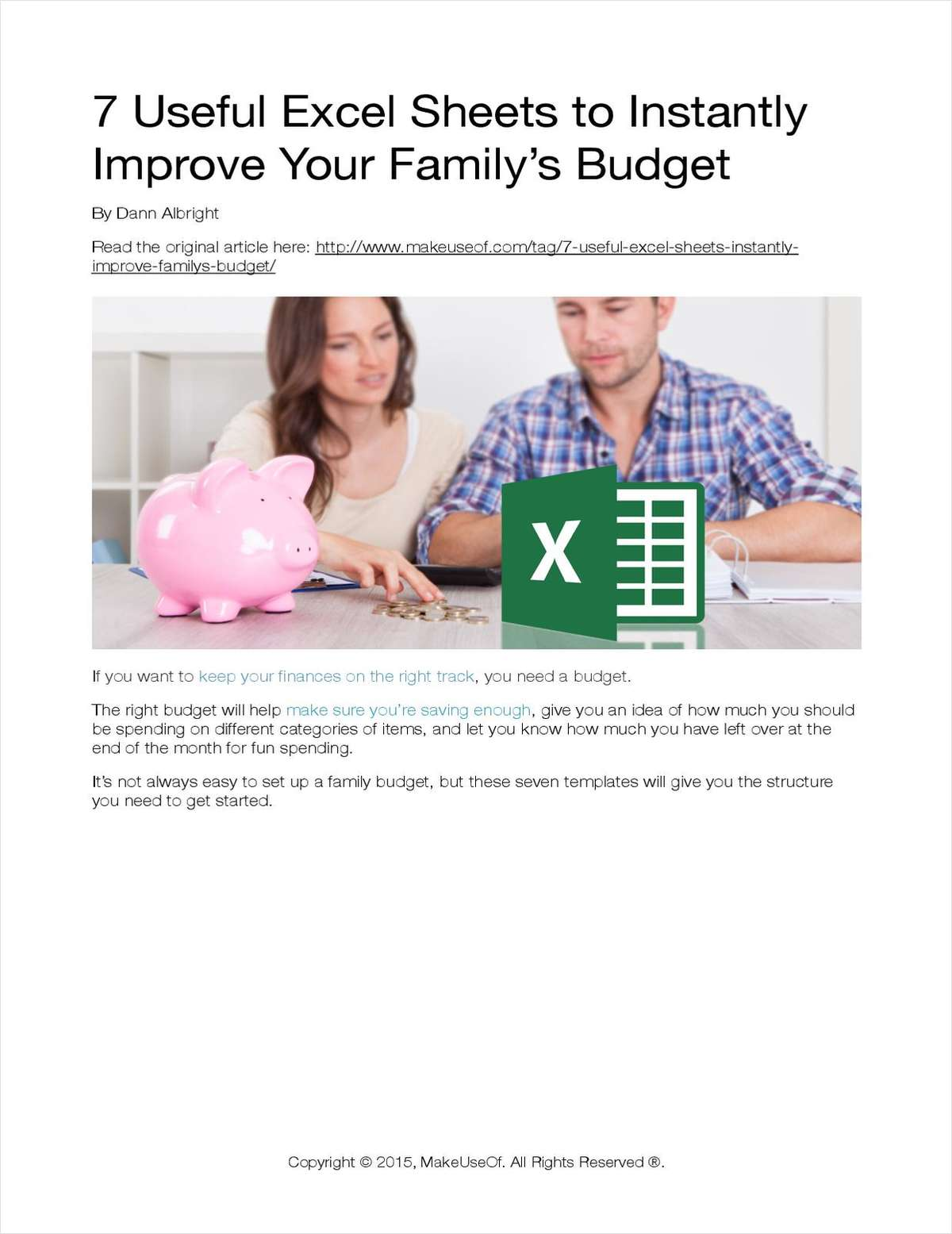 7 Useful Excel Sheets to Instantly Improve Your Family's Budget