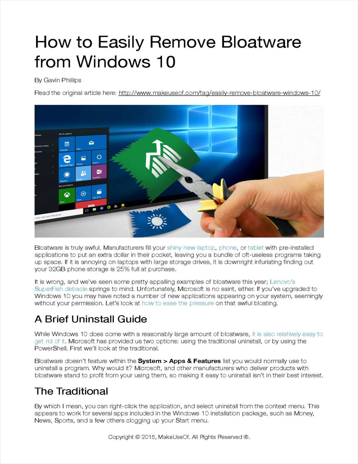 How to Easily Remove Bloatware from Windows 10