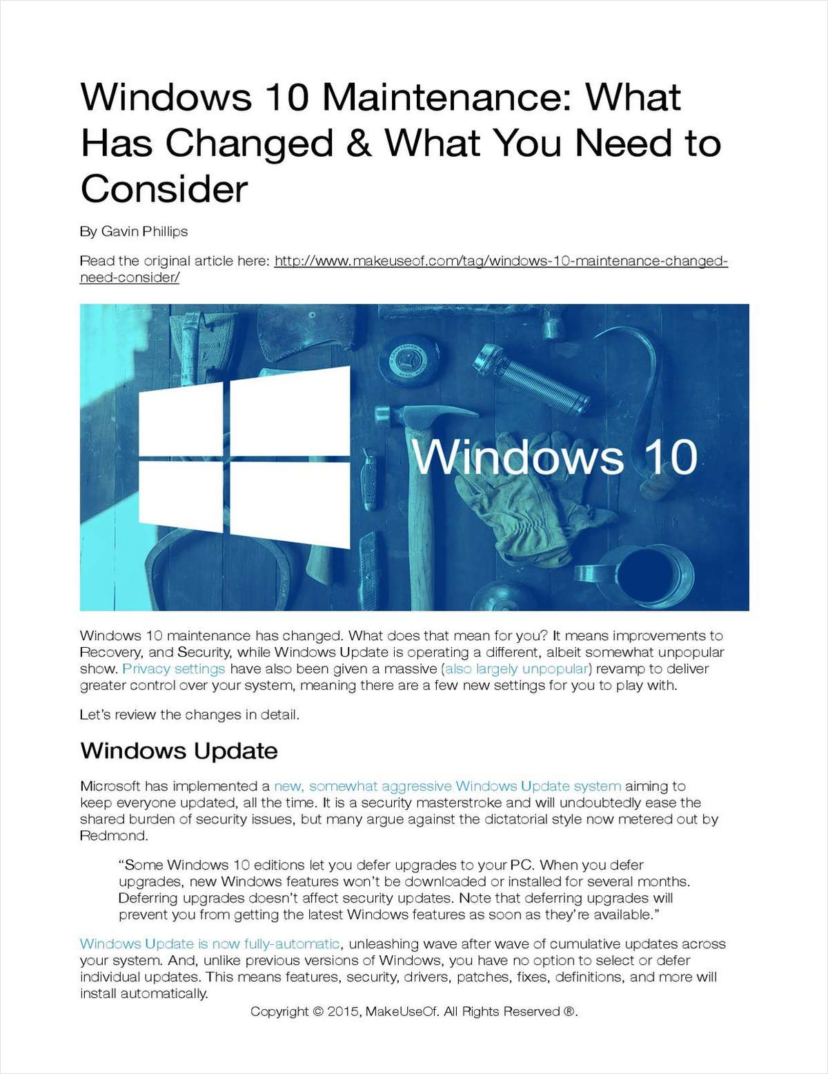 Windows 10 Maintenance: What Has Changed and What You Need to Consider