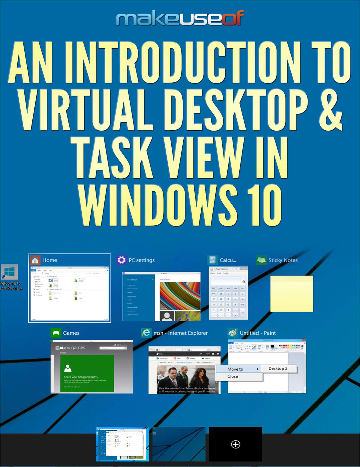 An Introduction to Virtual Desktop & Task View in Windows 10