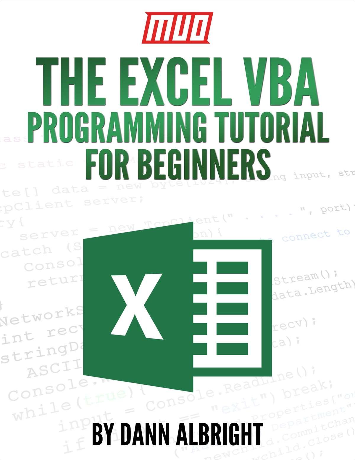 The Excel VBA Programming Tutorial for Beginners