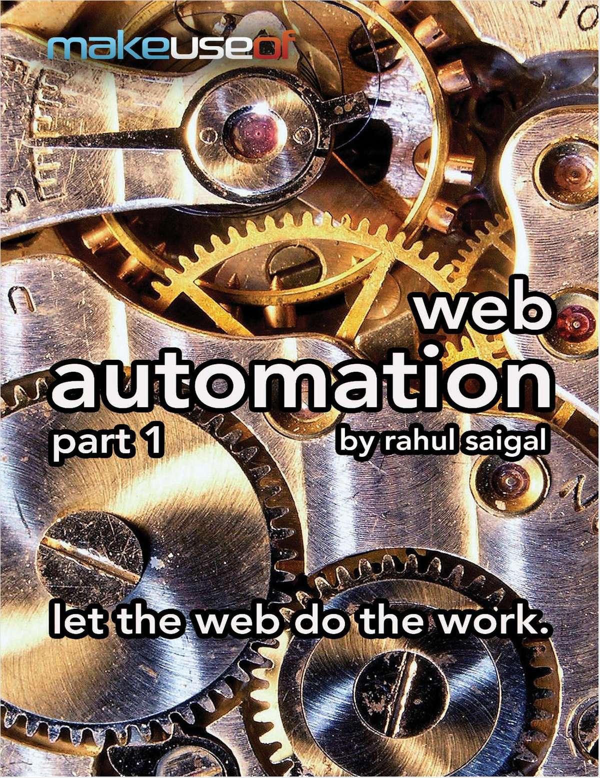 Web Automation, Part 1