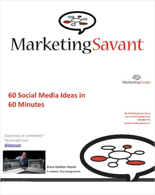 60 Social Media Ideas in 60 Minutes