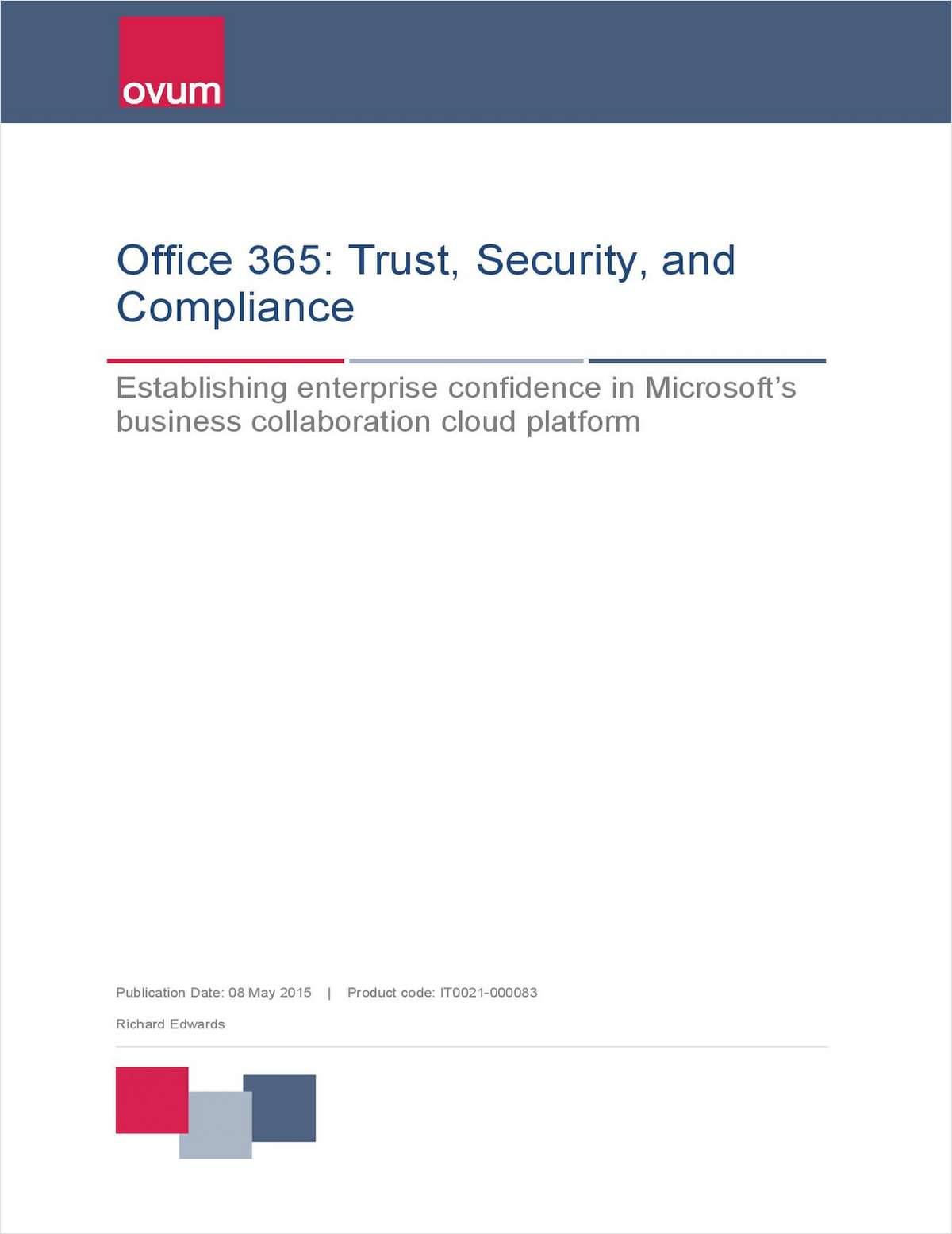 Ovum Analyst Report: Security in the Cloud