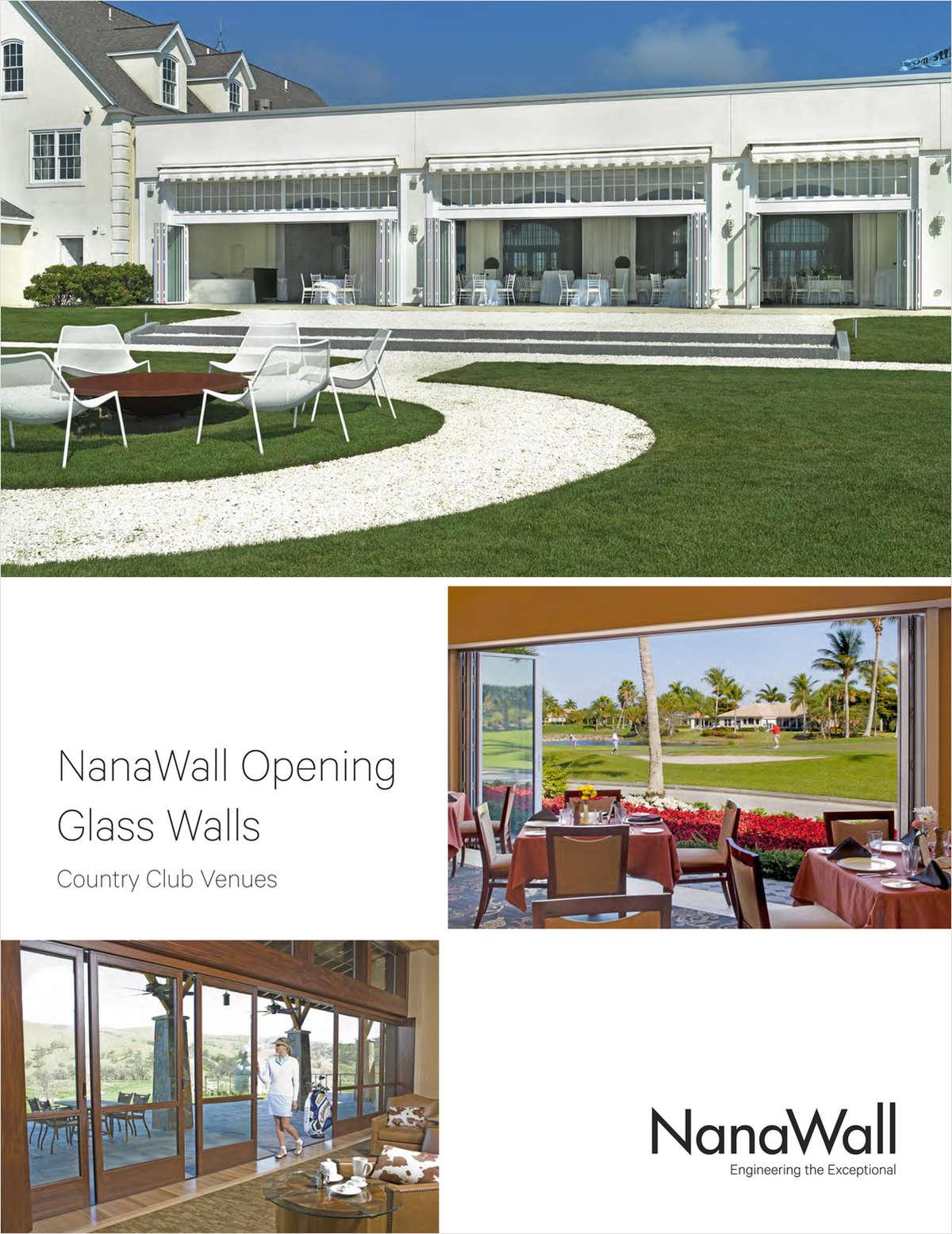 NanaWall Opening Glass Walls: Country Club Venues