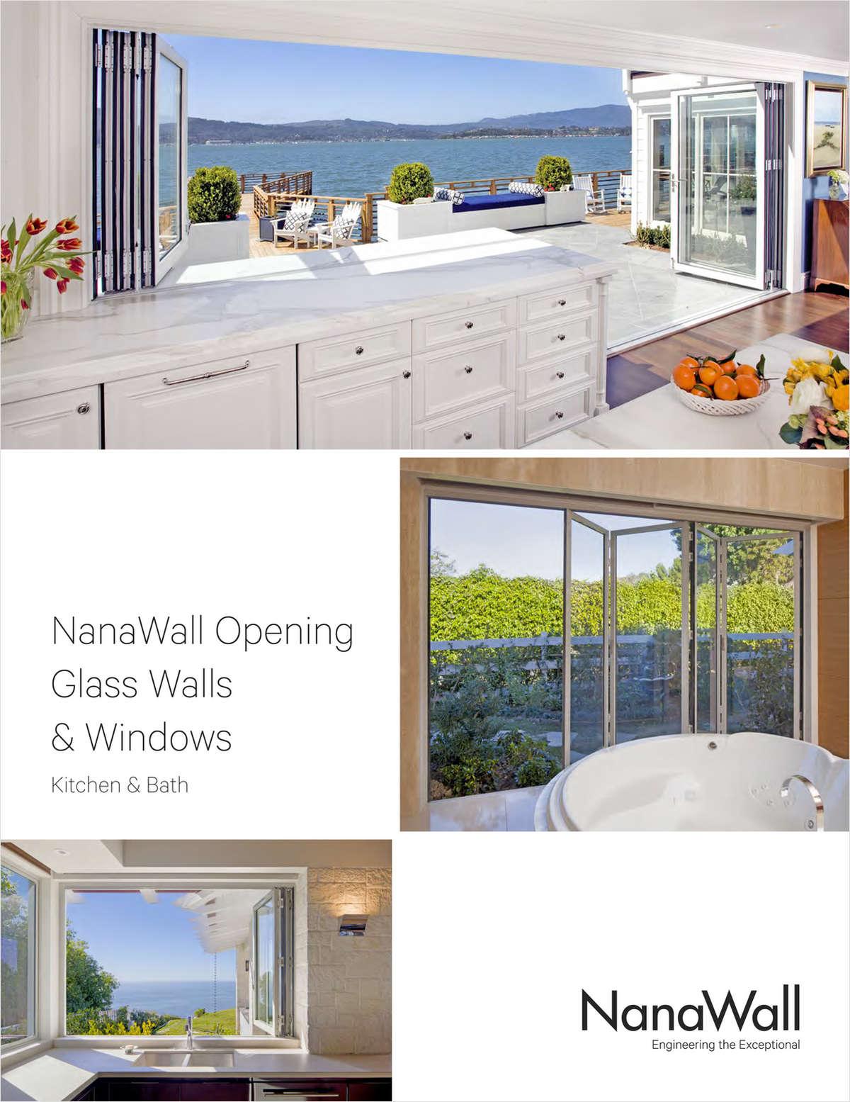 NanaWall Opening Glass Walls & Windows for Kitchens & Baths