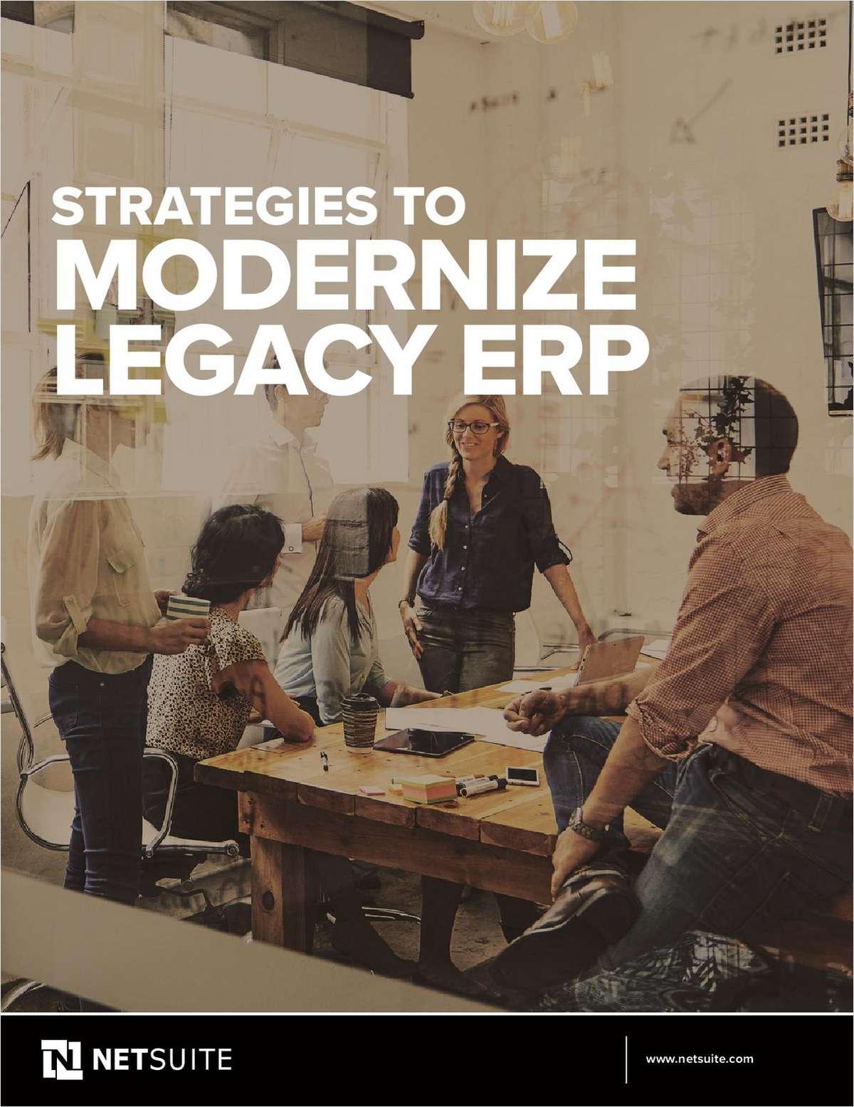 Strategies to Modernize Legacy ERP