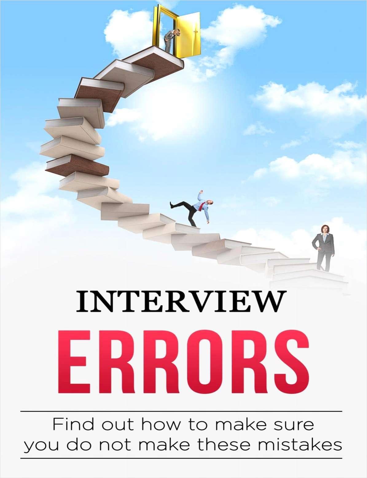Interview Errors