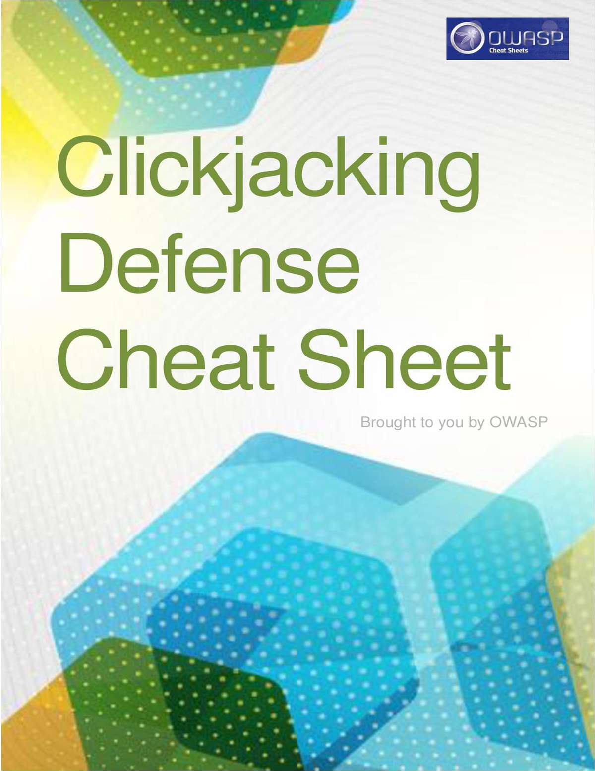 Clickjacking Defense Cheat Sheet