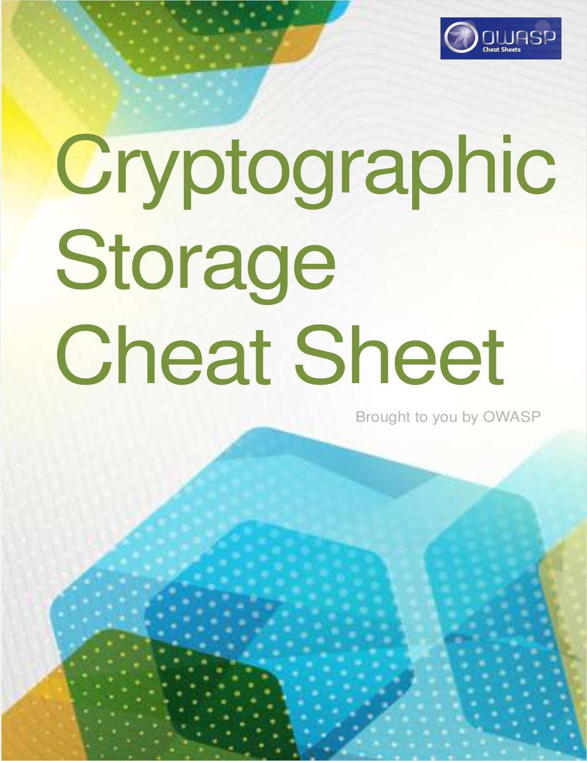 Cryptographic Storage Cheat Sheet