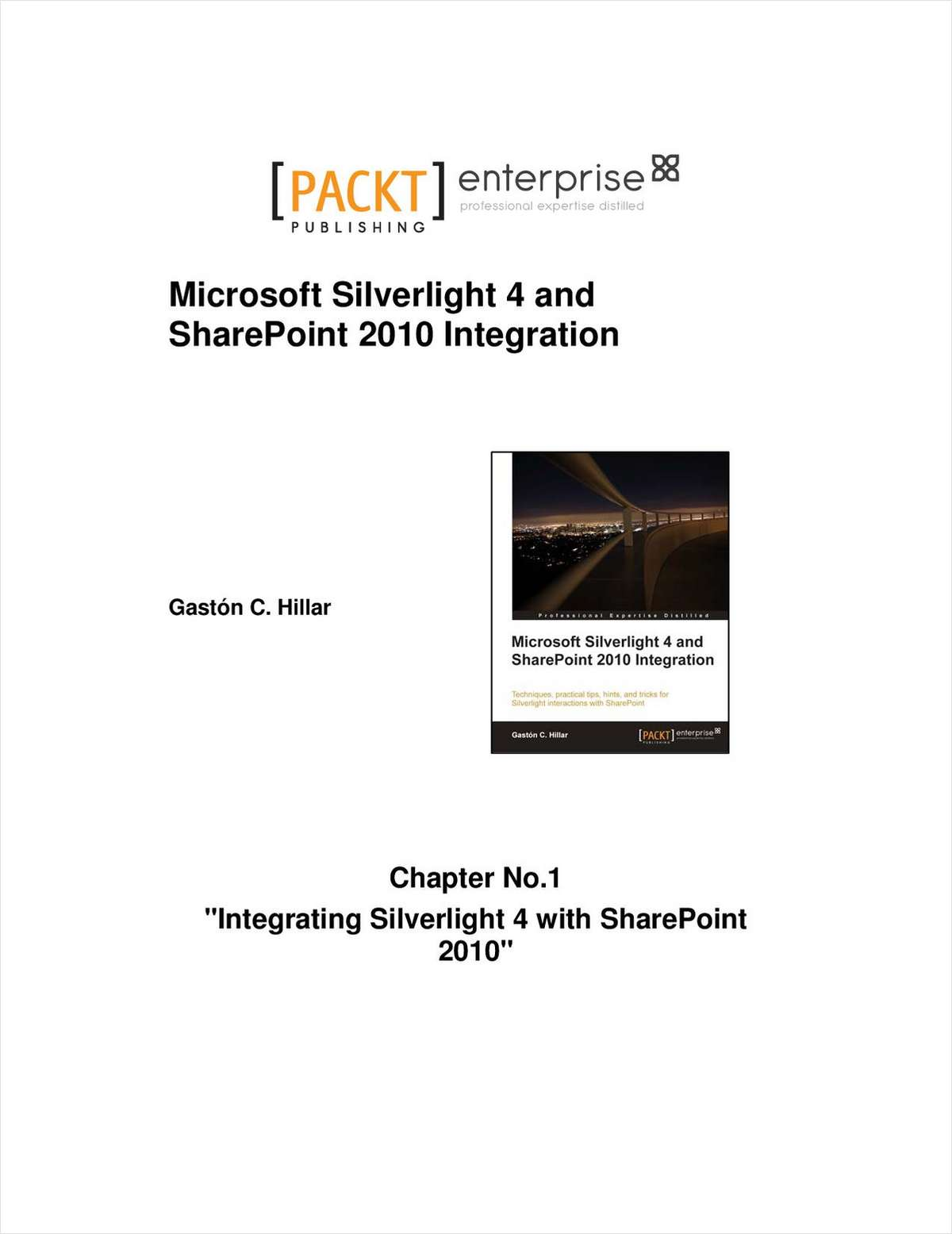 Integrating Silverlight 4 with SharePoint 2010 -- Free 42 Page Sample Chapter