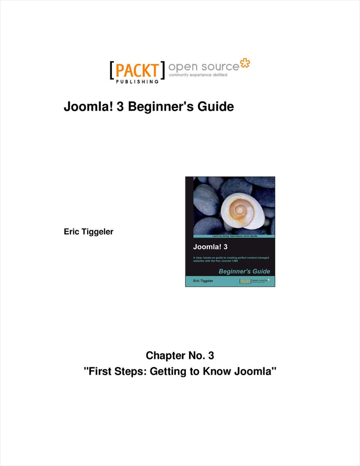 Joomla! 3 Beginner's Guide--Free 34 Page Excerpt
