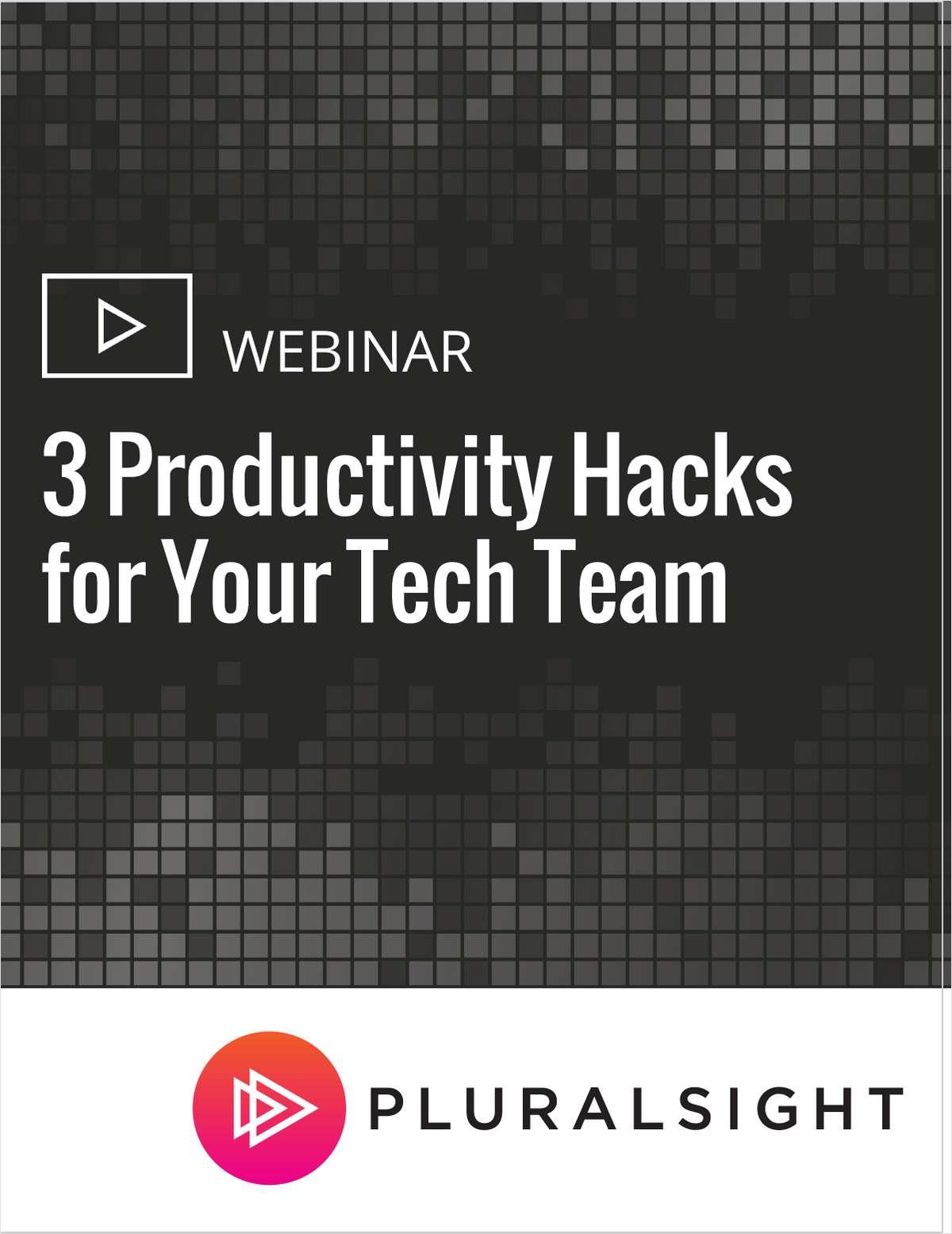 3 Productivity Hacks for Your Tech Team