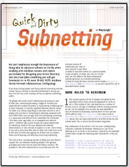 Quick and Dirty Subnetting