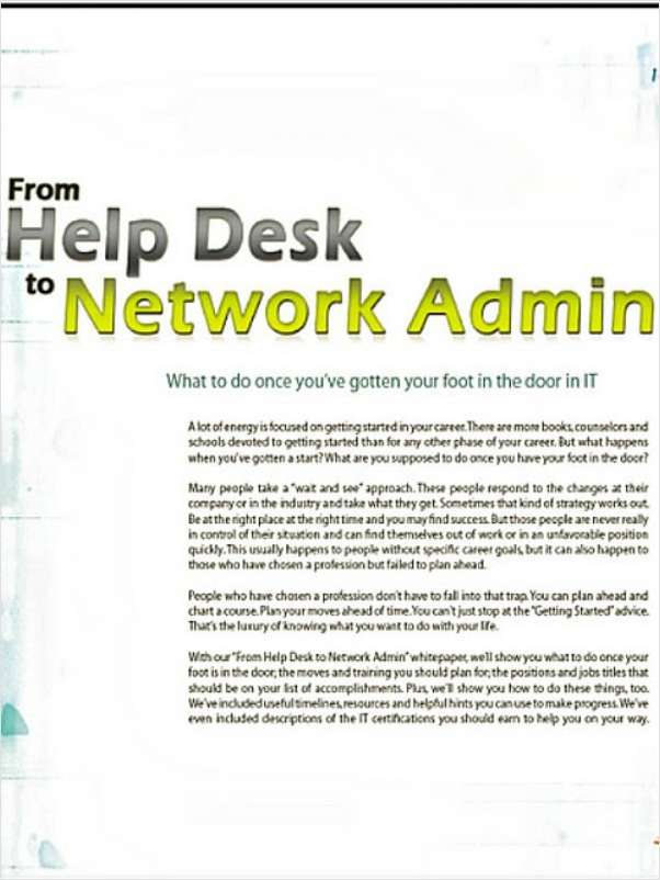 From Help Desk to Network Admin
