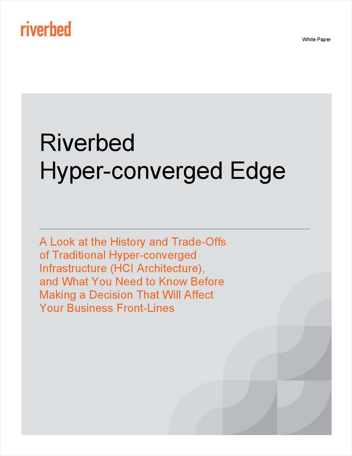 Riverbed Hyper-converged Edge