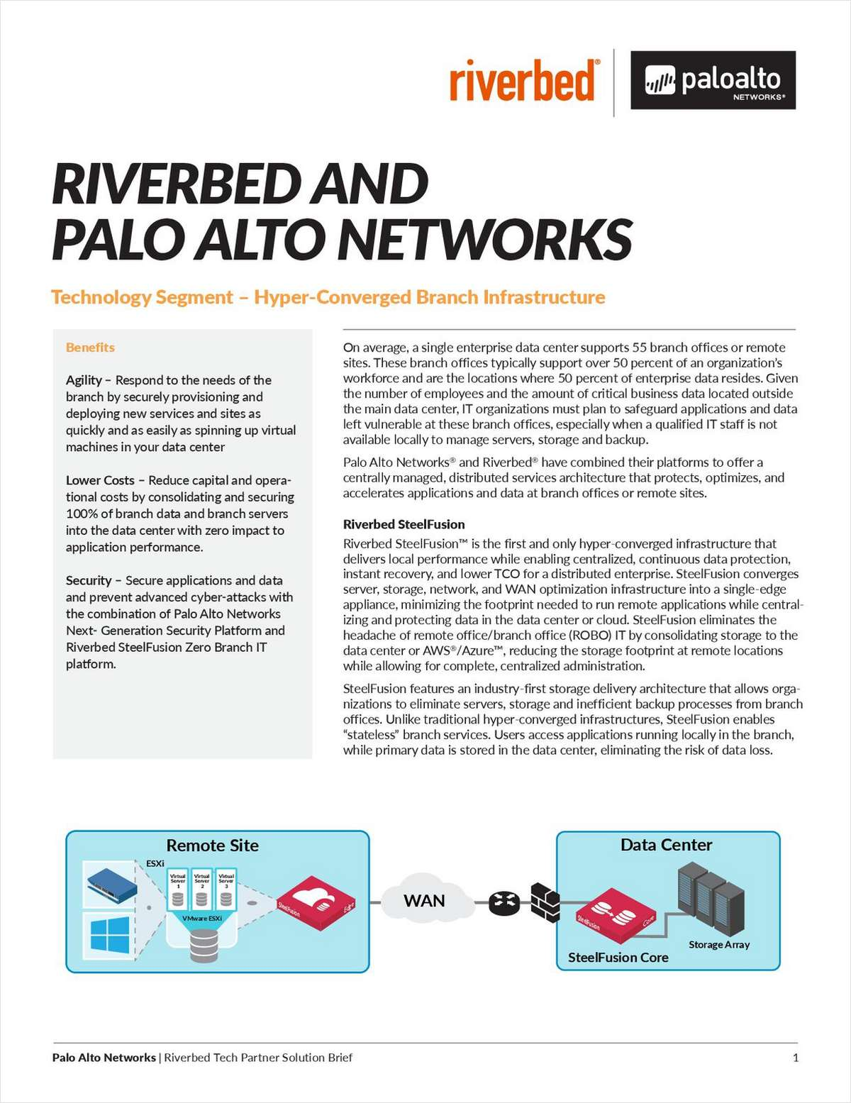 Riverbed and Palo Alto Networks