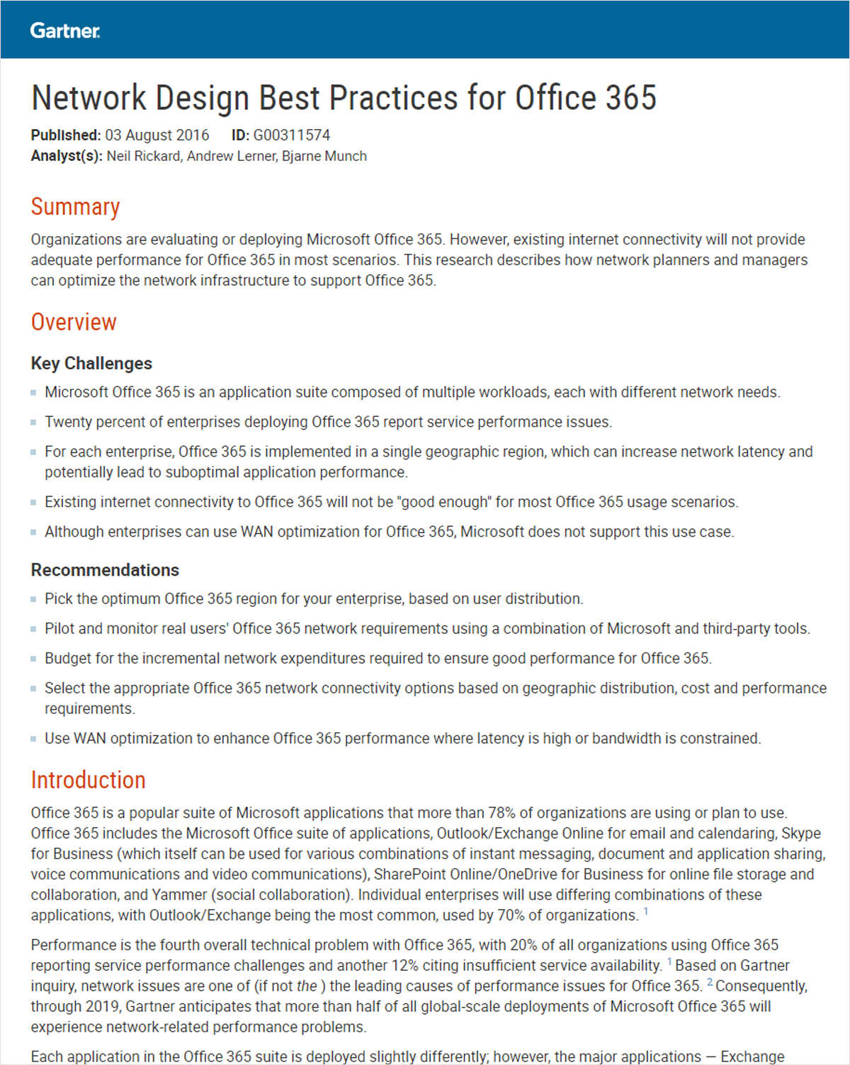 Network Design Best Practices for Office 365