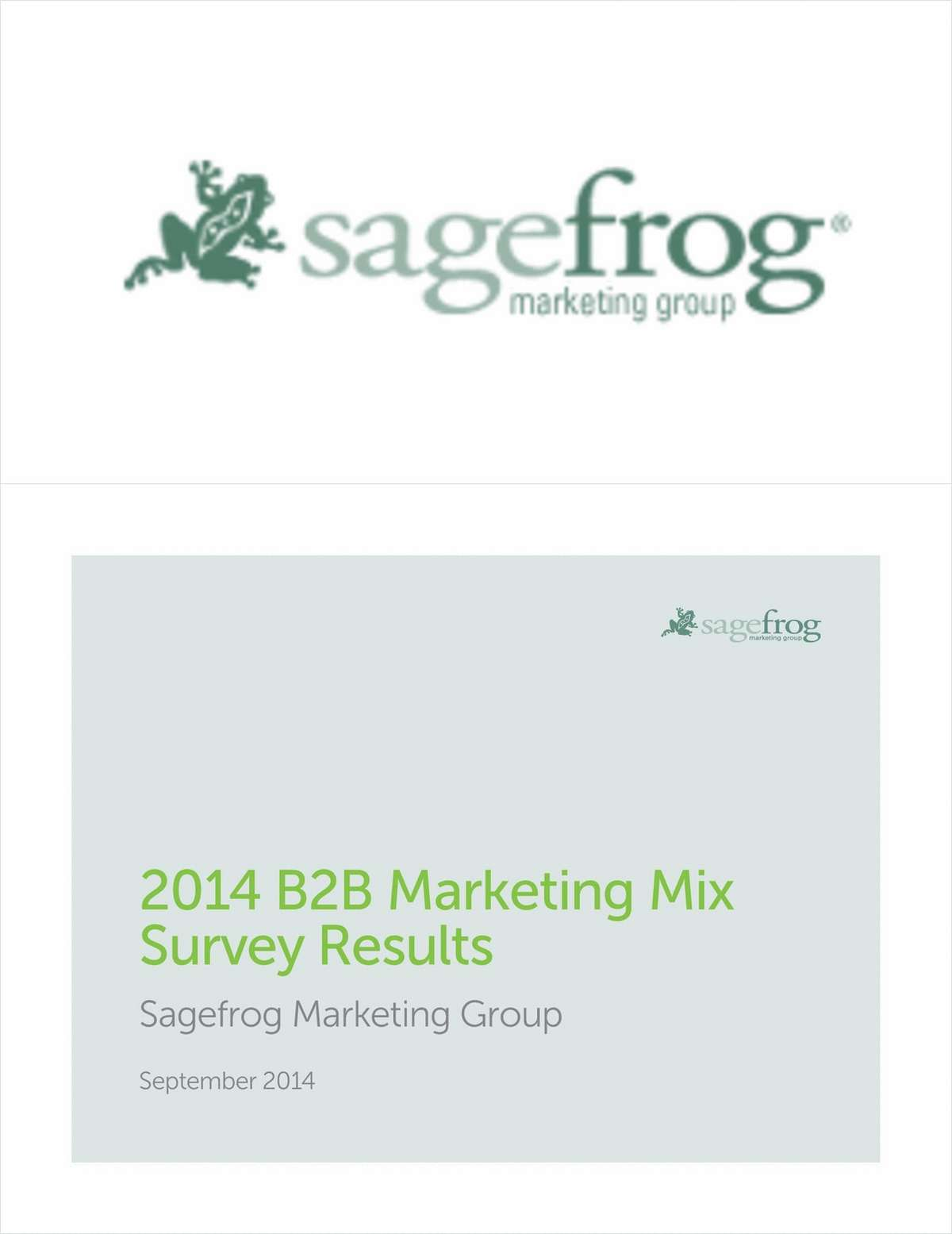 2014 B2B Marketing Mix Survey Results