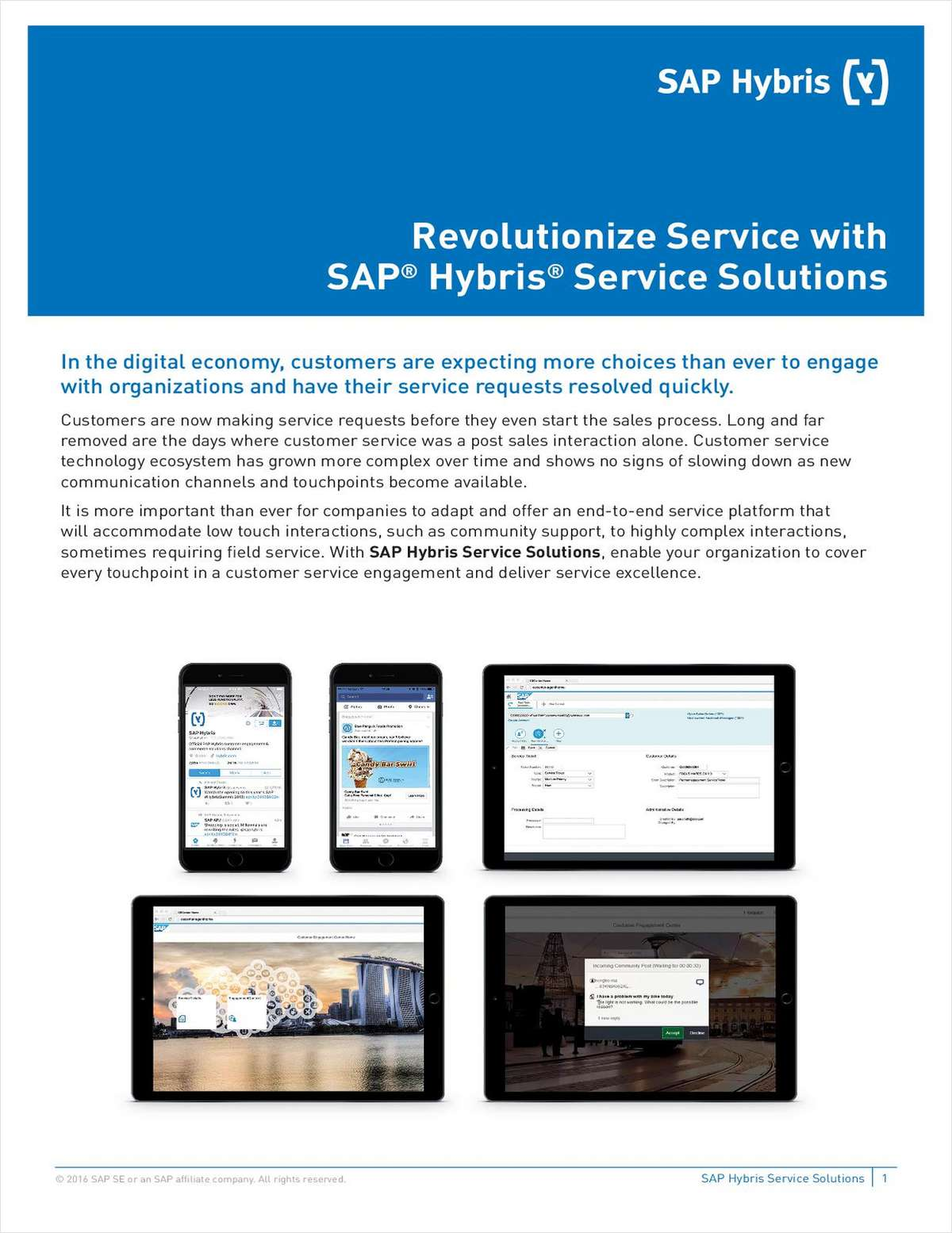 Revolutionize Service with SAP Hybris Service Solutions