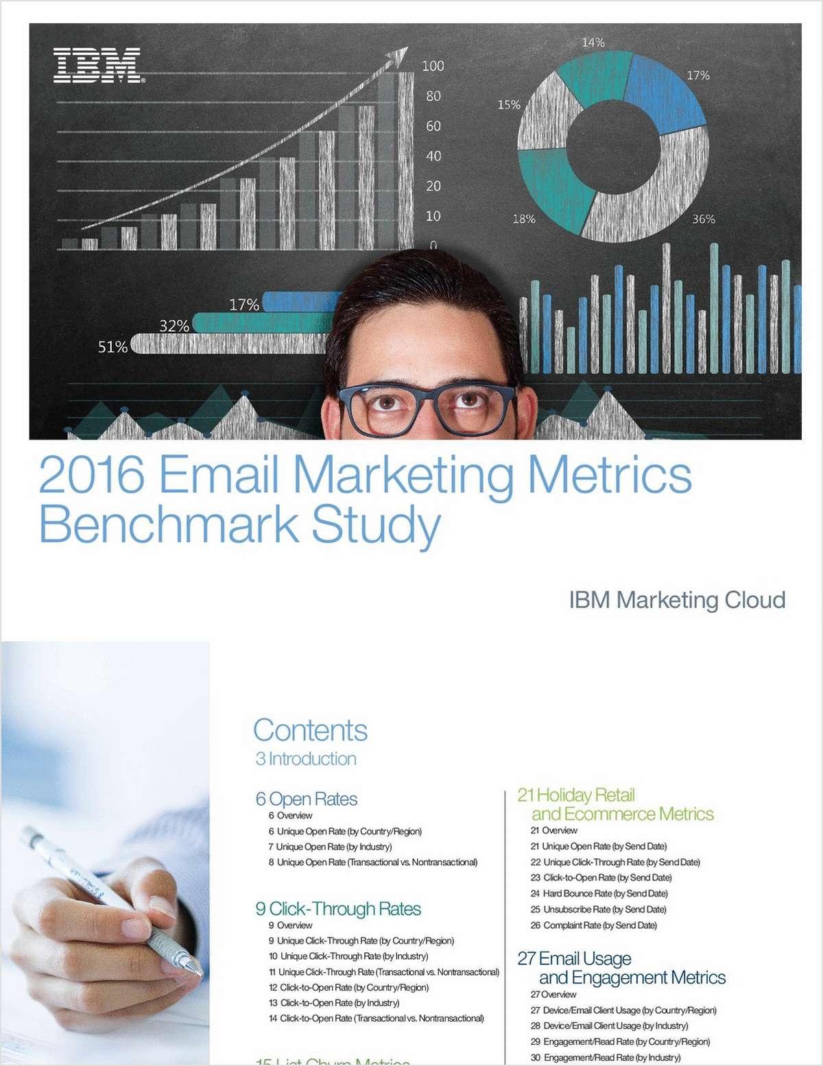 2016 Email Marketing Metrics Benchmark Study