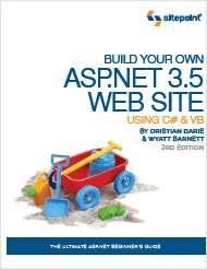 Build Your Own ASP.NET 3.5 Web Site Using C# & VB, 3rd Edition - Free 219 Page Preview!