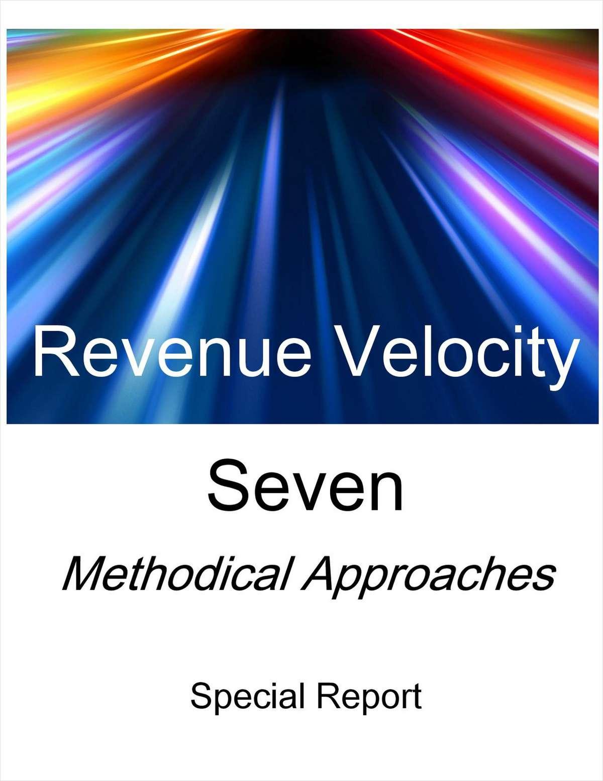 Revenue Velocity: Seven Methodical Approaches