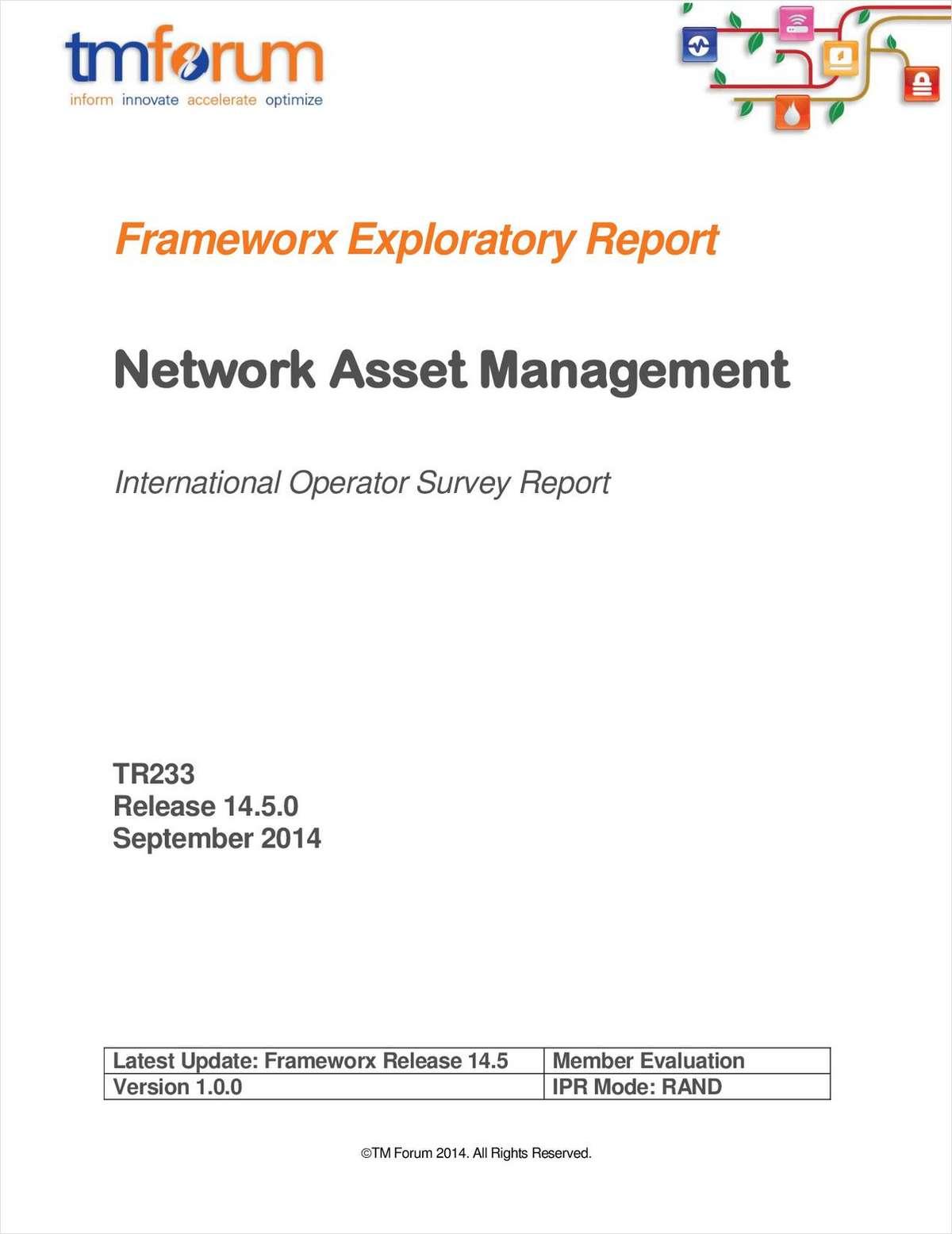 Network Asset Management Survey report 2014