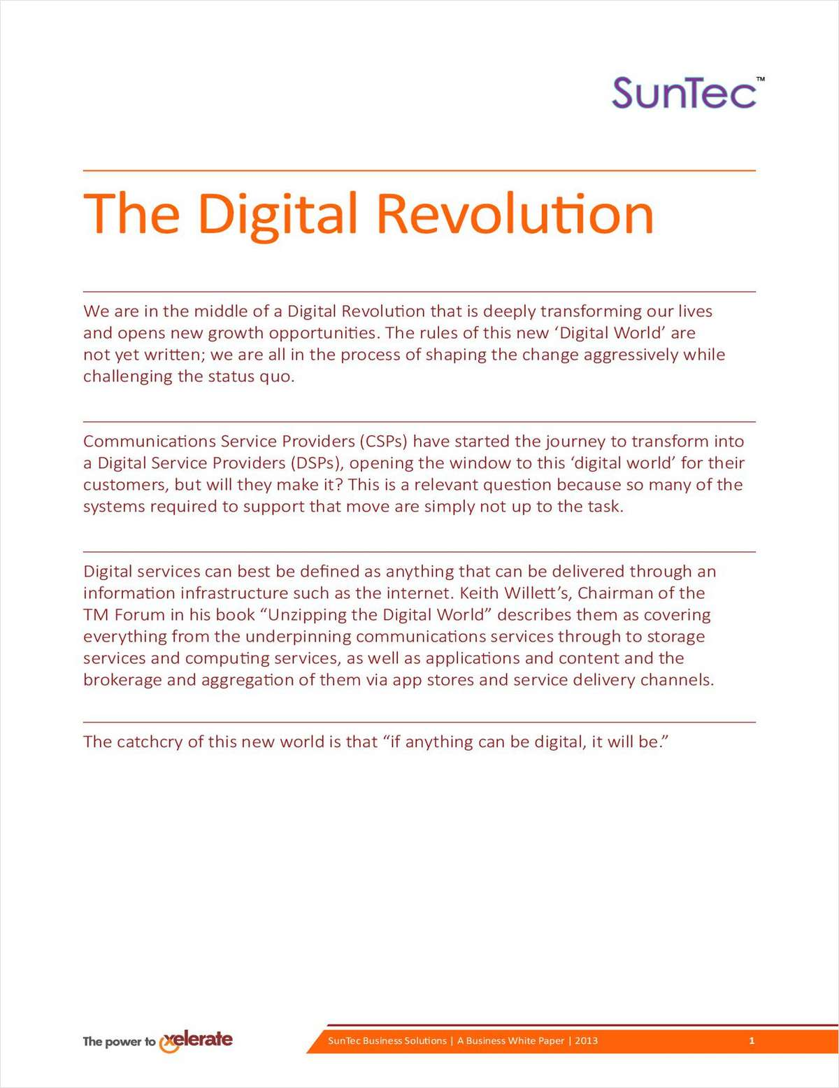The Digital Revolution for Telecom Operators