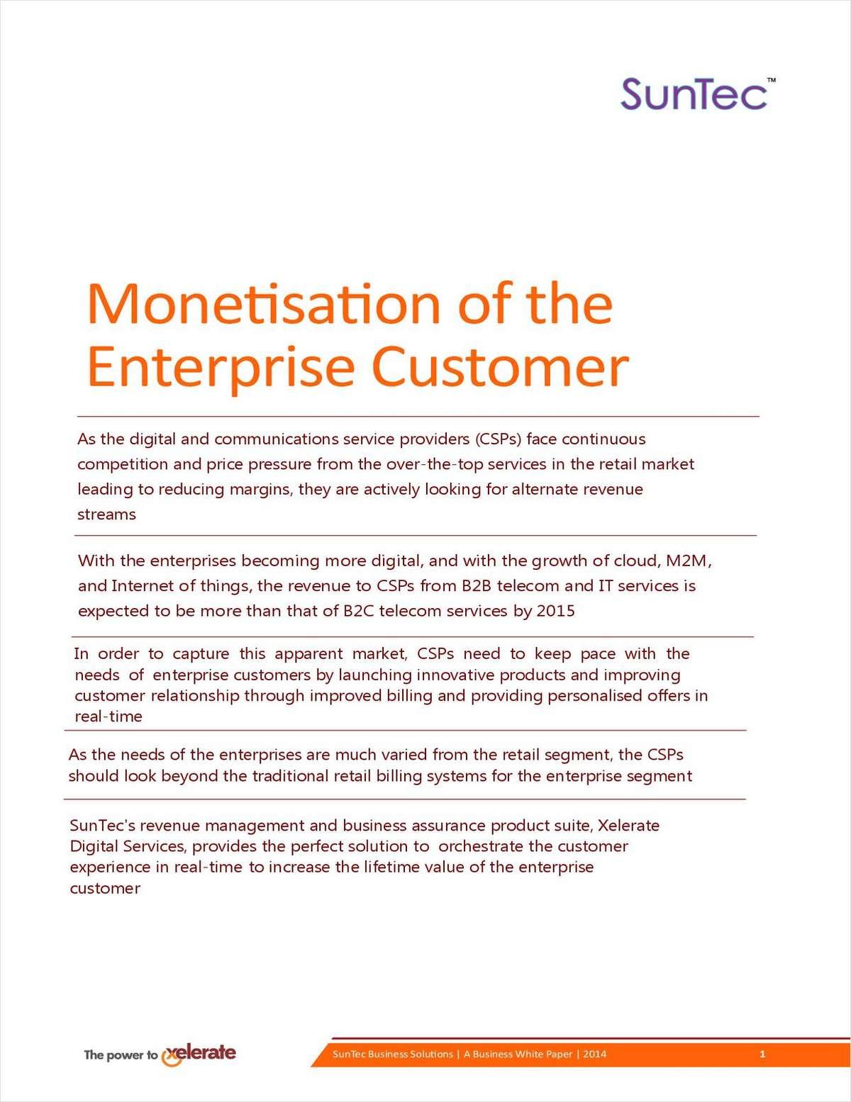 Monetisation of the Enterprise Customer for Telecom Operators