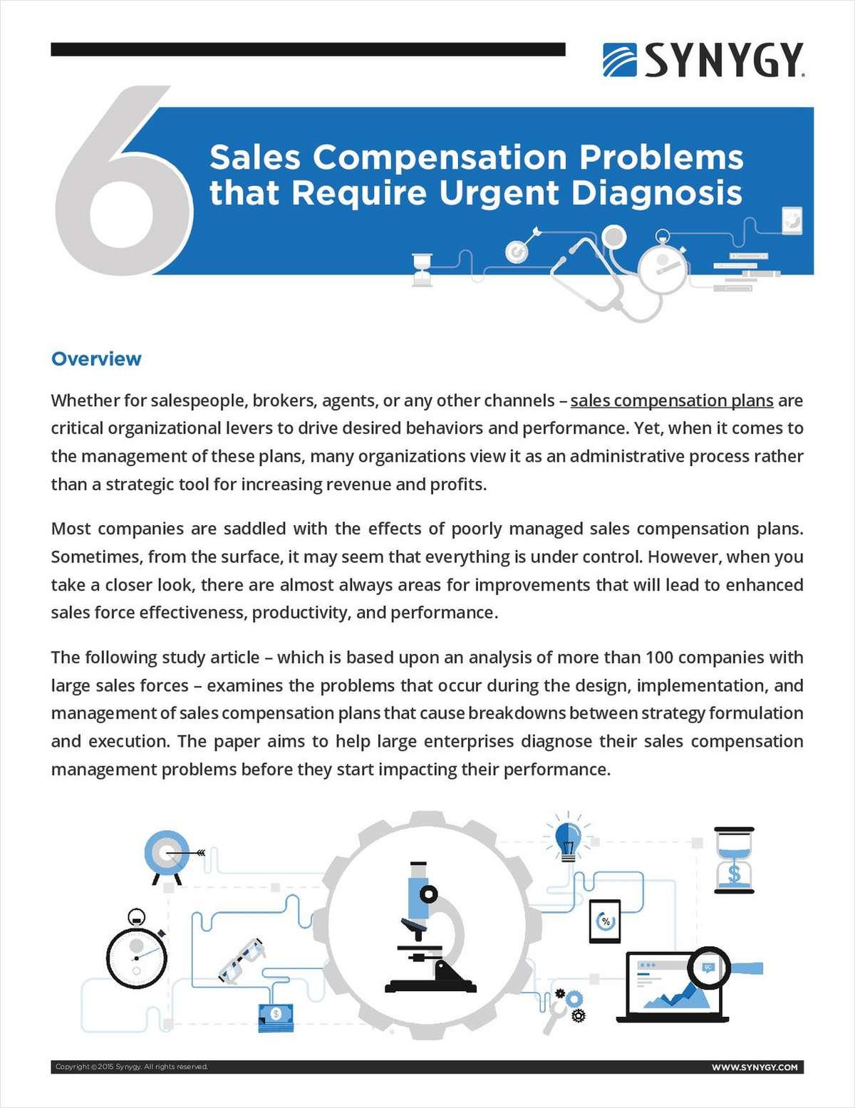6 Sales Compensation Problems that Require Urgent Diagnosis