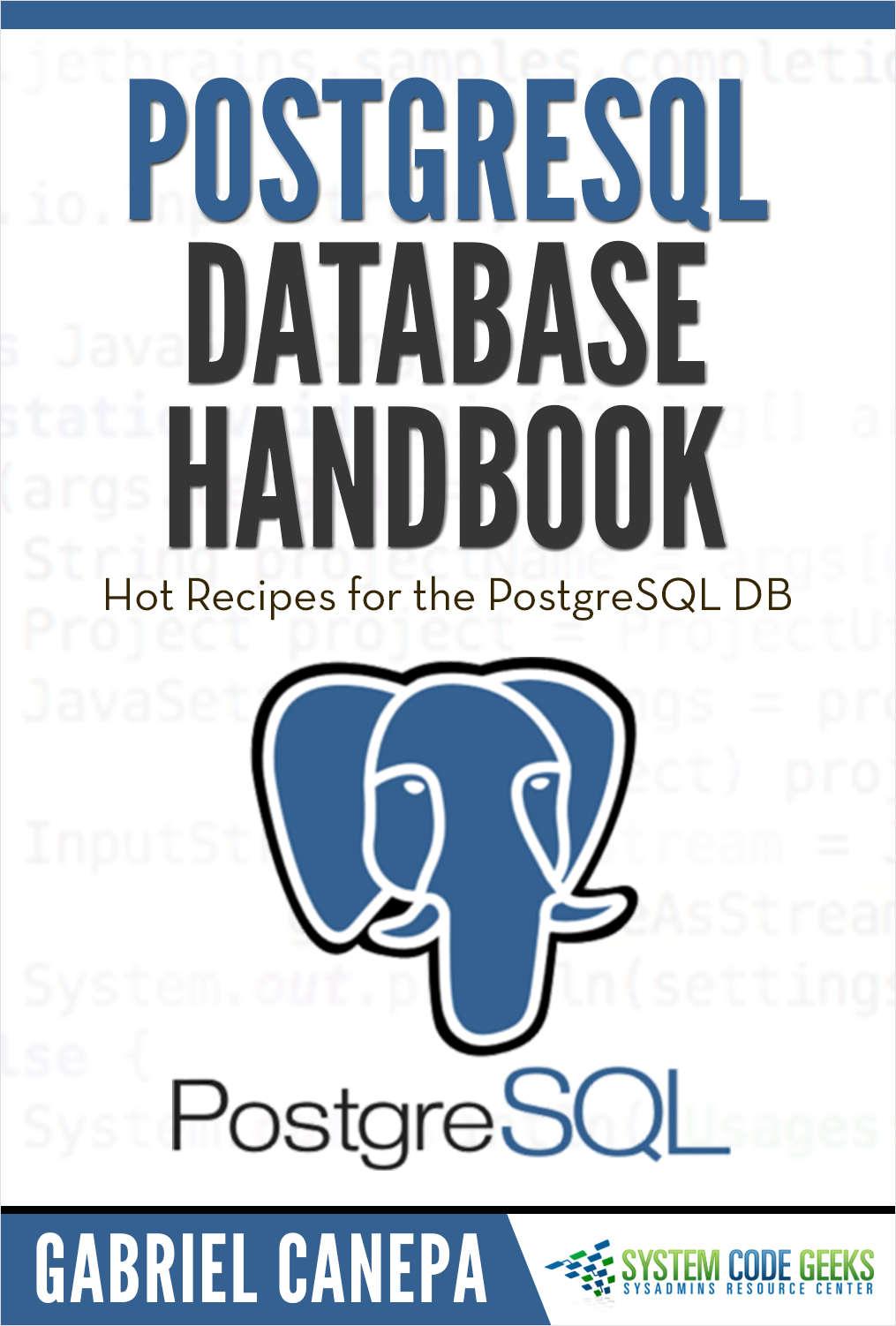 PostgreSQL Database Handbook