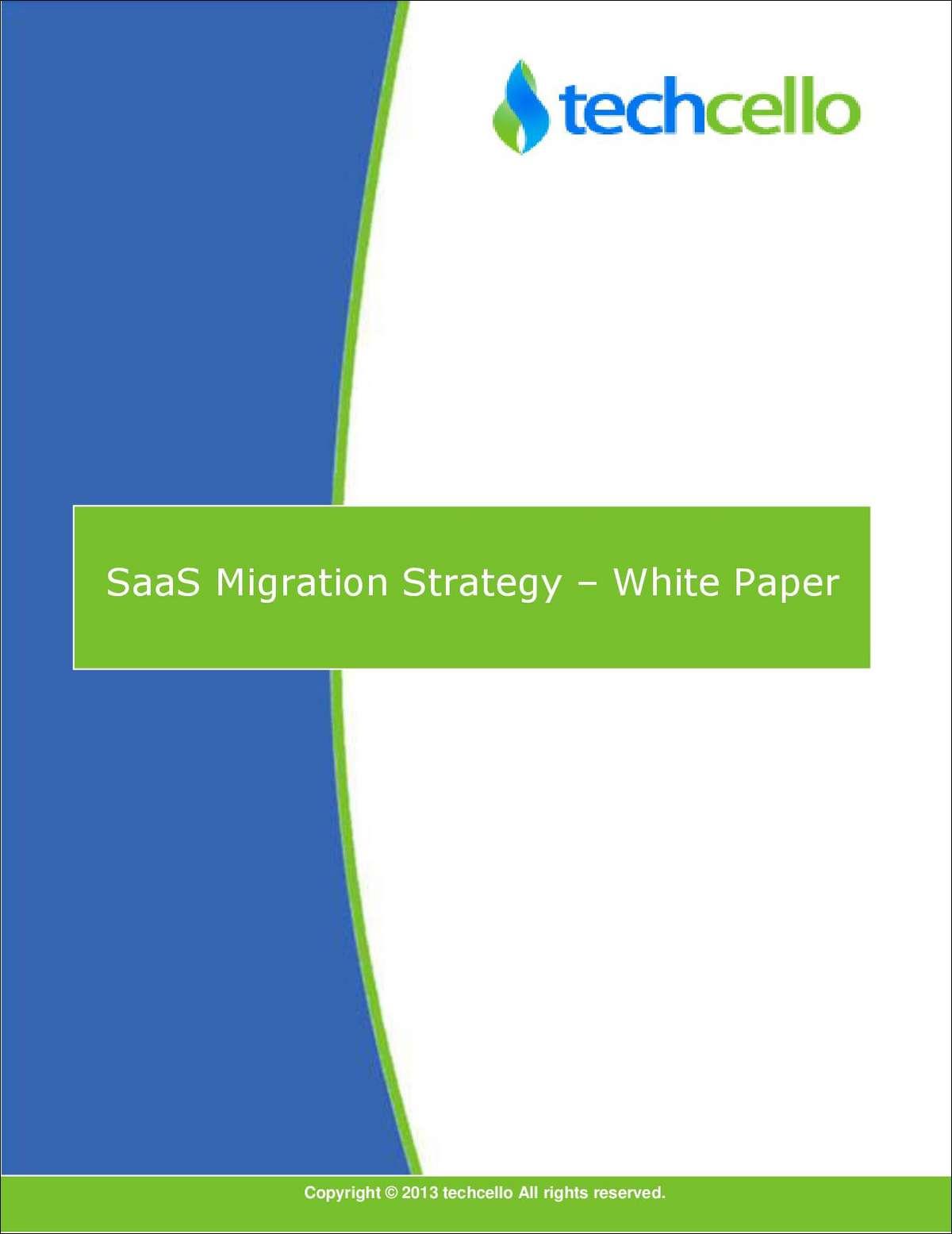 SaaS Migration Strategy