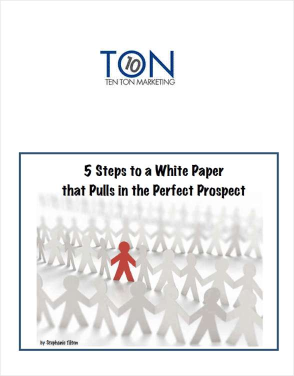 5 Steps to a White Paper that Pulls in the Perfect Prospect -- Free 25 Page eBook
