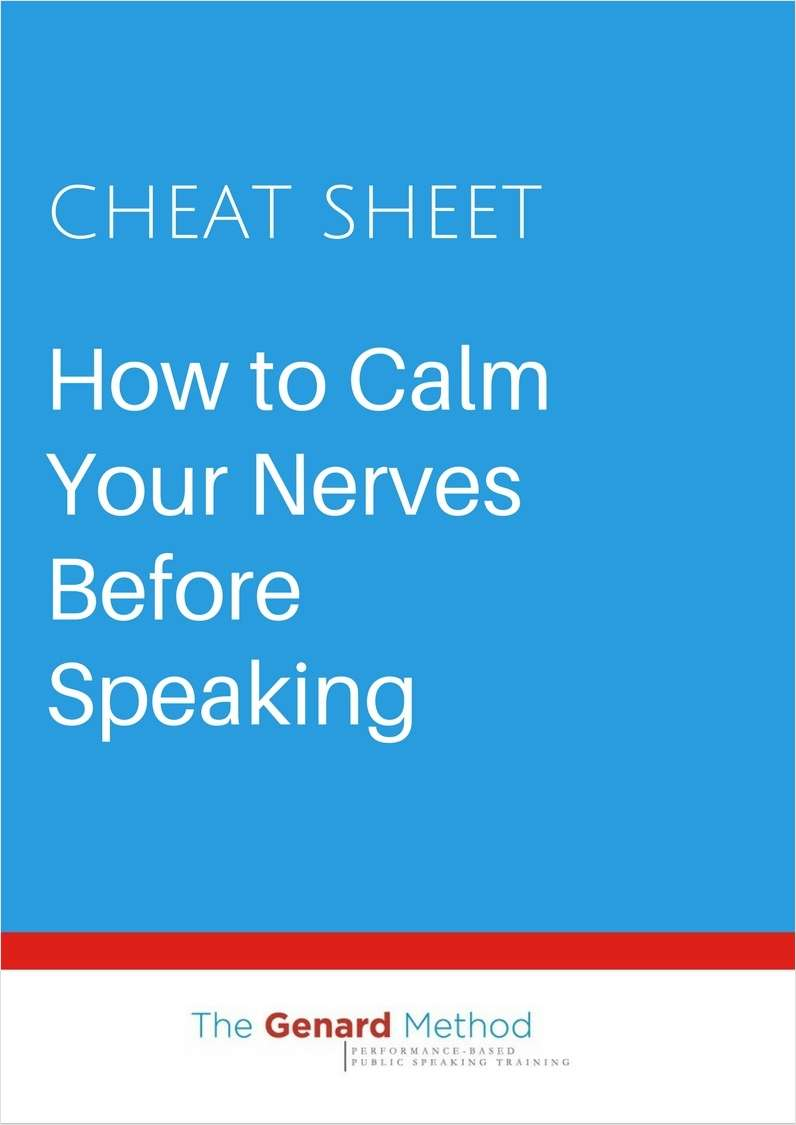 How to Calm Your Nerves Before Speaking