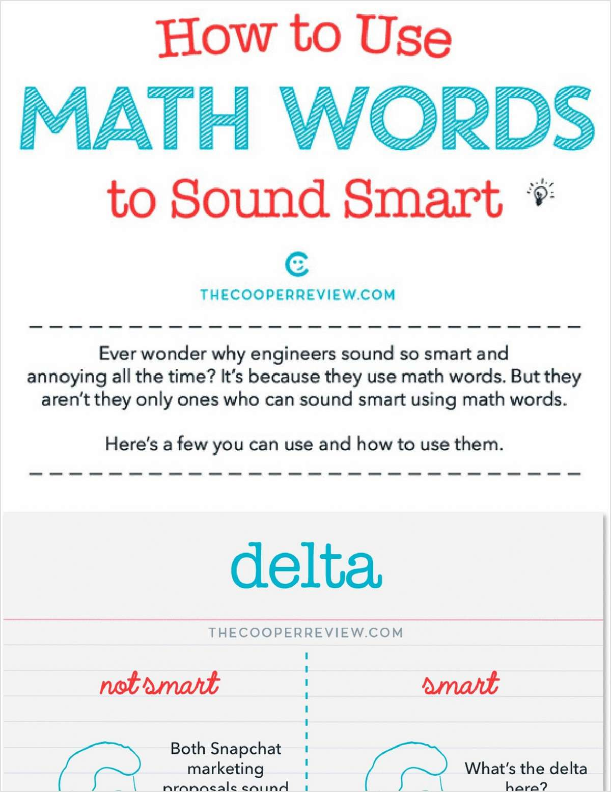 How to Use Math Words to Sound Smart