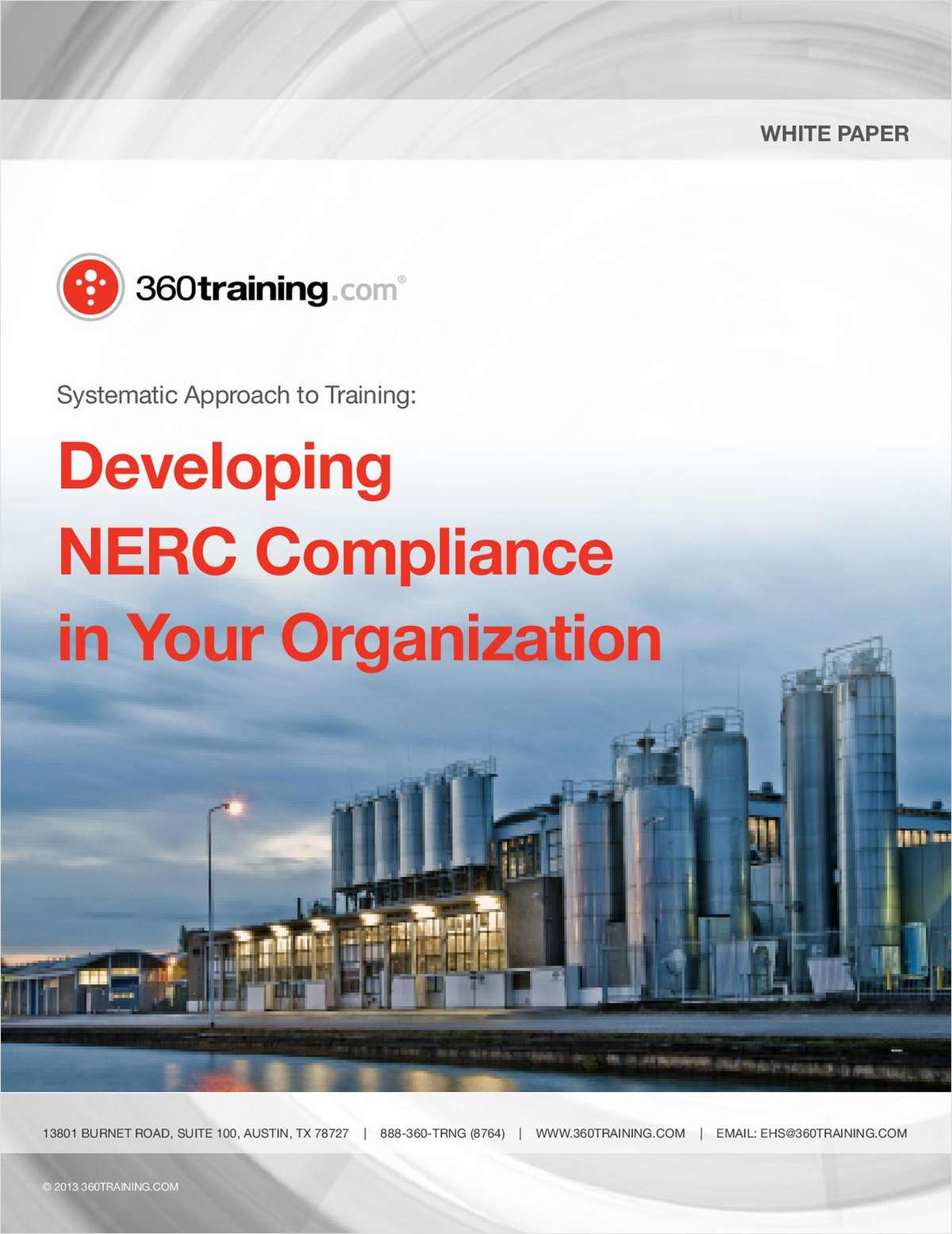Systematic Approach to Training: Developing NERC Compliance in Your Organization