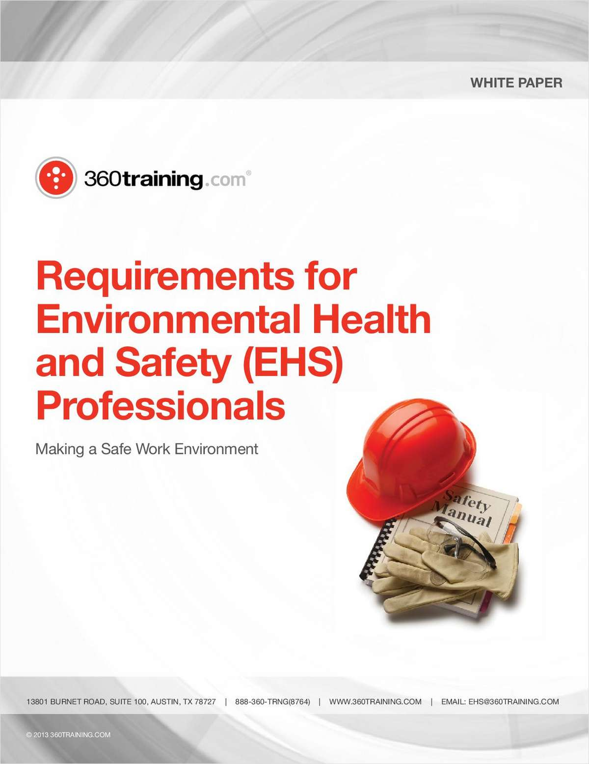 Requirements for Environmental Health and Safety (EHS) Professionals