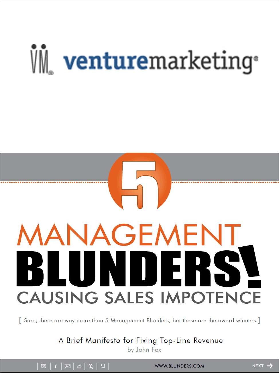 5 Management Blunders Causing Sales Impotence