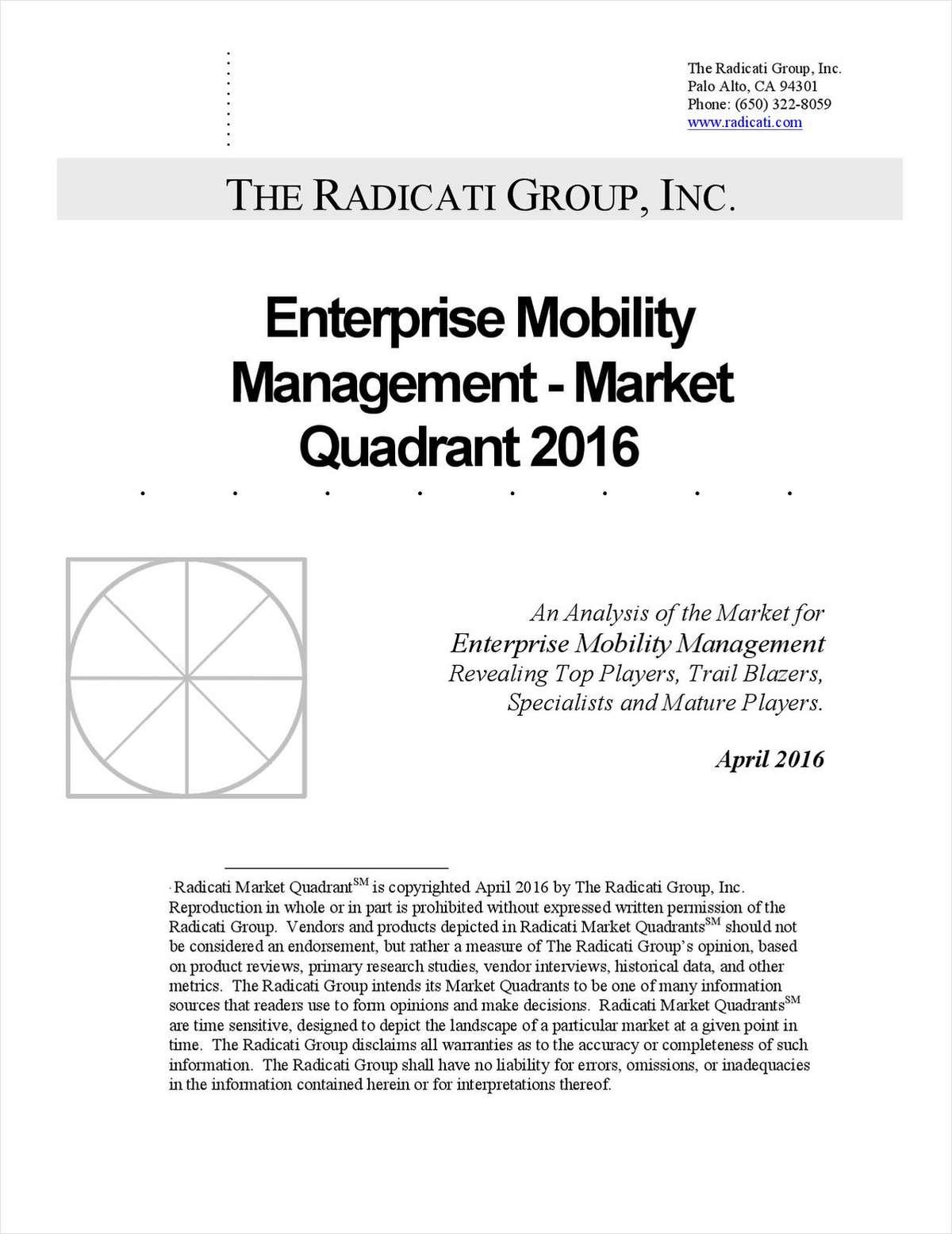 Enterprise Mobility Management - Market Quadrant, 2016