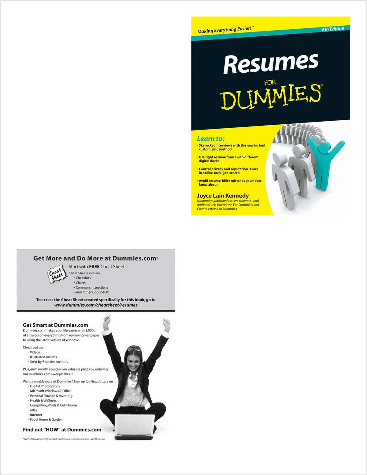resumes for dummies 6th edition free sample chapter free wiley book excerpt - Resumes For Dummies