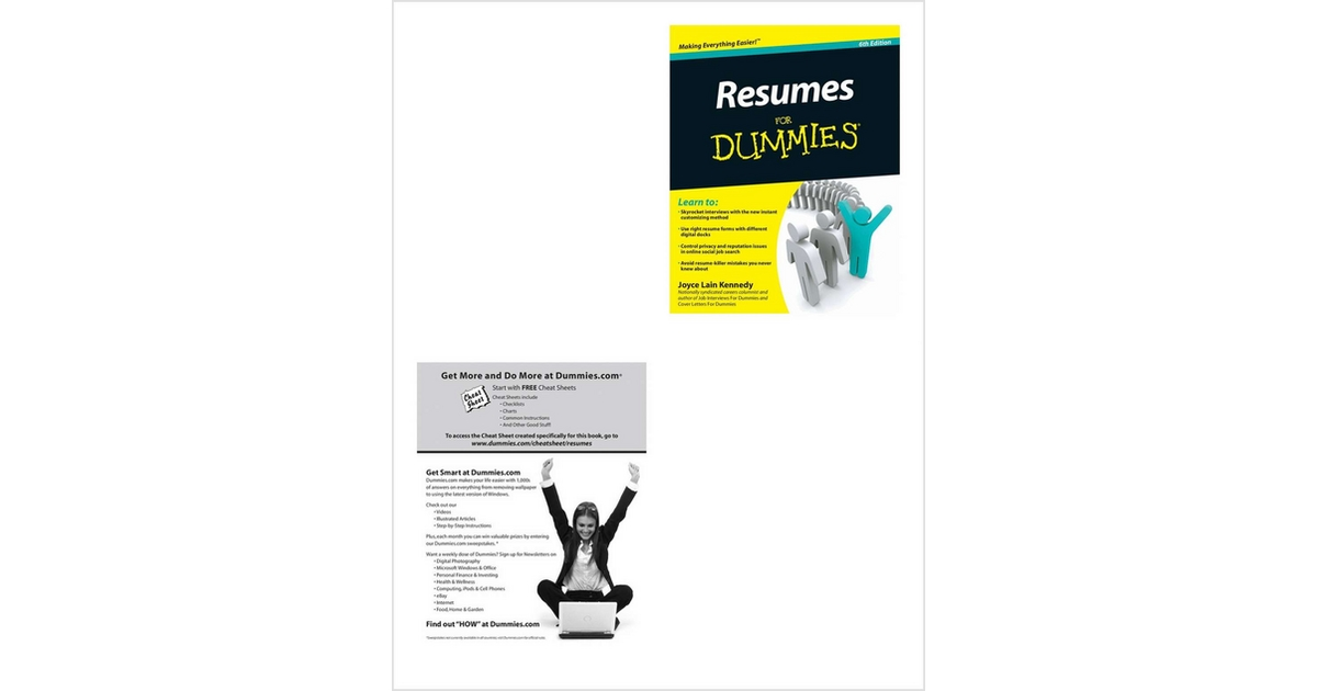 resumes for dummies  6th edition