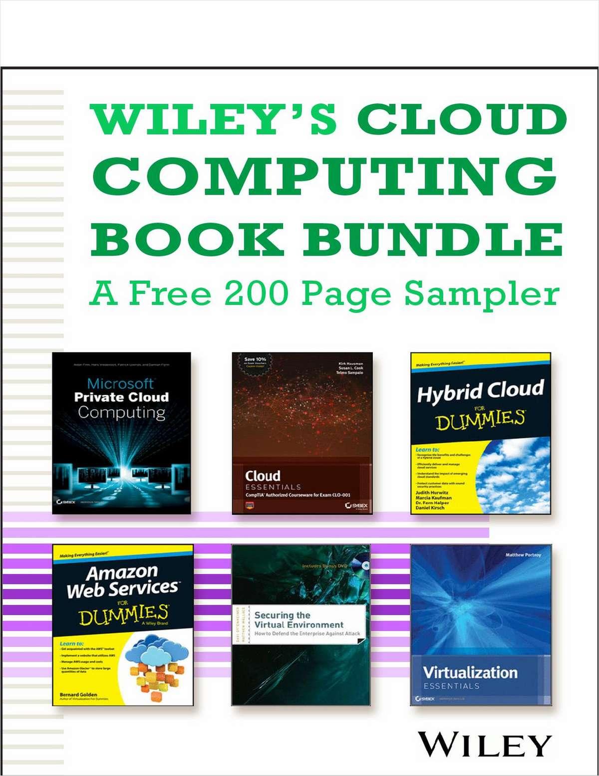 Wiley's Cloud Computing Book Bundle -- A Free 200 Page Sampler